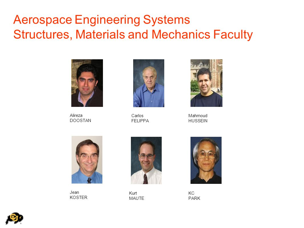 Aerospace Engineering Systems Structures, Materials and Mechanics Faculty