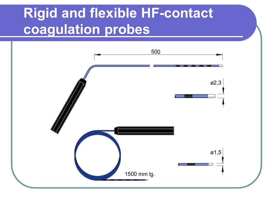 Rigid and flexible HF-contact coagulation probes