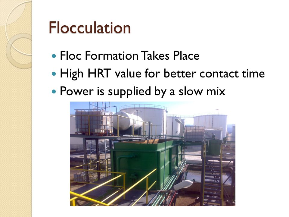 Flocculation Floc Formation Takes Place
