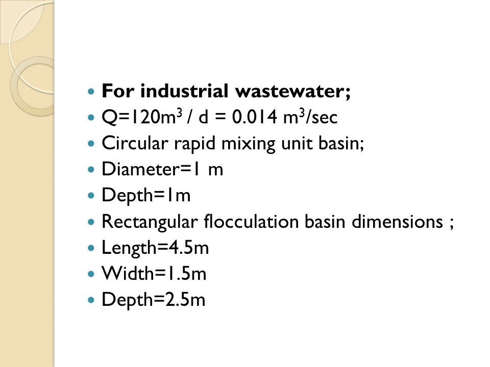 For industrial wastewater;