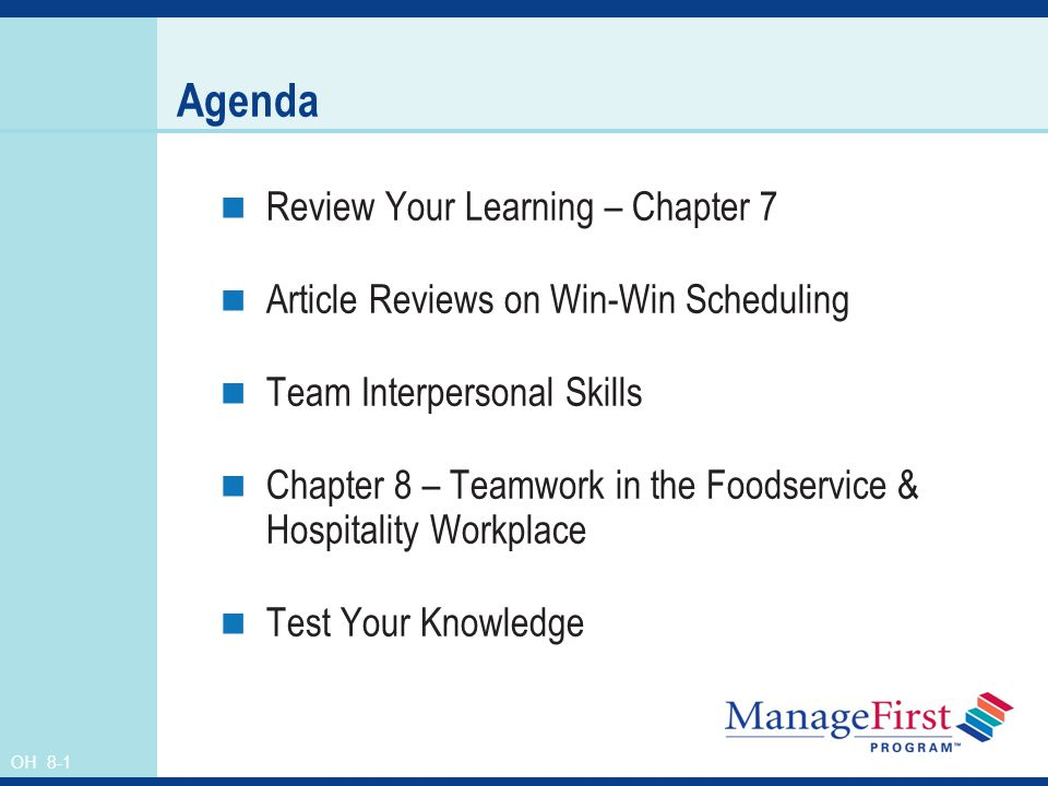 Agenda Review Your Learning – Chapter 7