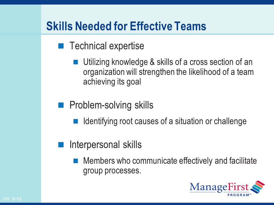 Skills Needed for Effective Teams