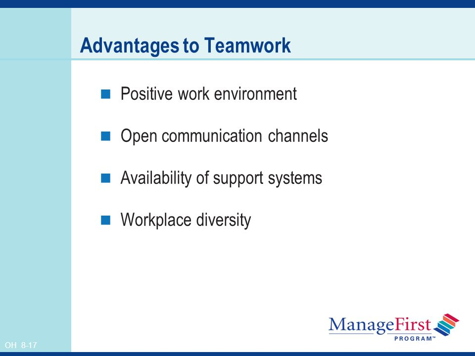 the advantages and disadvantages of self managed work teams Self directed work team is a powerful concept since the ancient roman legion and today approximately 68% of fortune 1000 companies implement sdwt concept including ford, gm, p&g, fedex, etc (lawler, mohrman, & ledford ,1995.