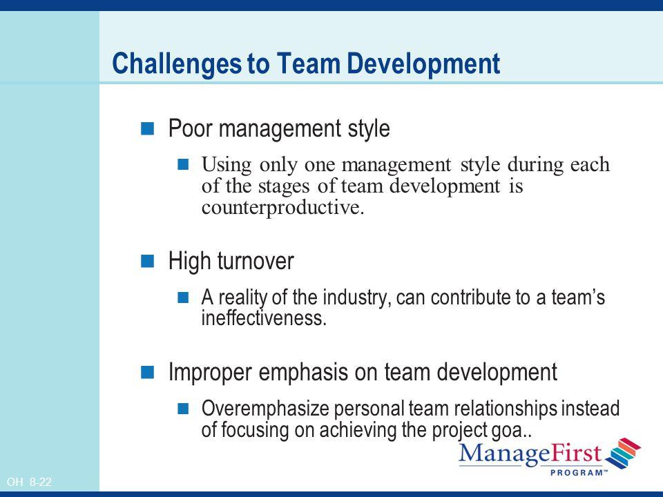 Challenges to Team Development