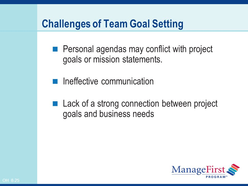 Challenges of Team Goal Setting