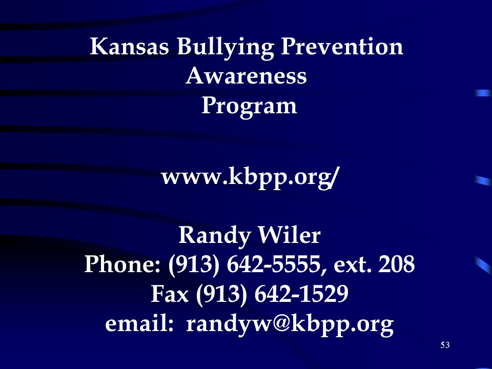 Kansas Bullying Prevention