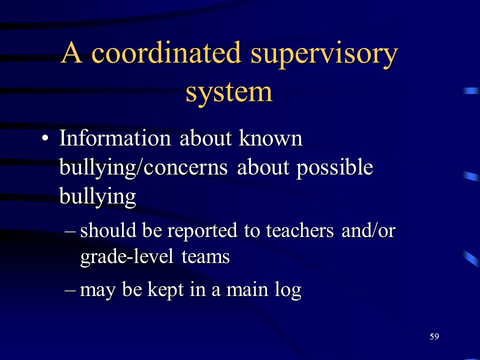 A coordinated supervisory system