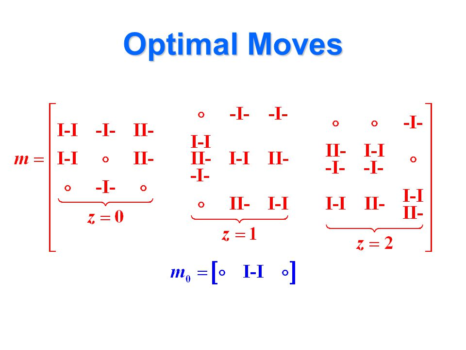 Optimal Moves