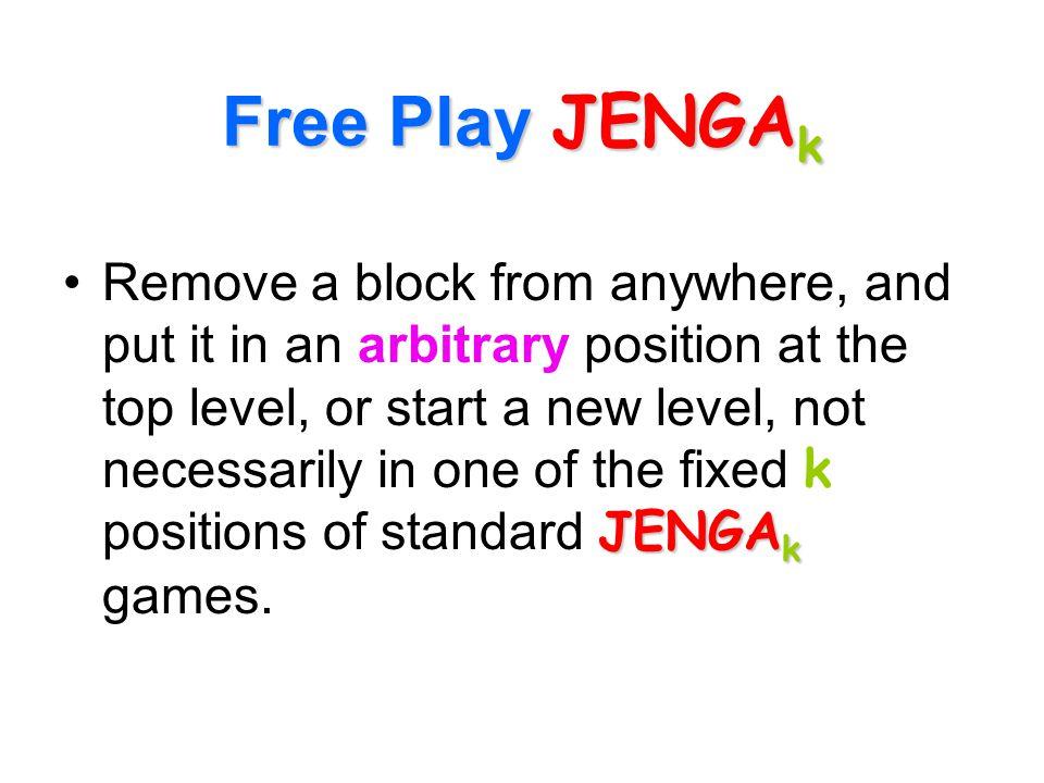 Free Play JENGAk