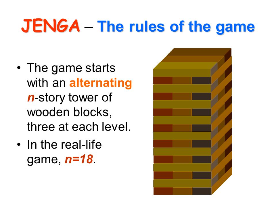 JENGA – The rules of the game