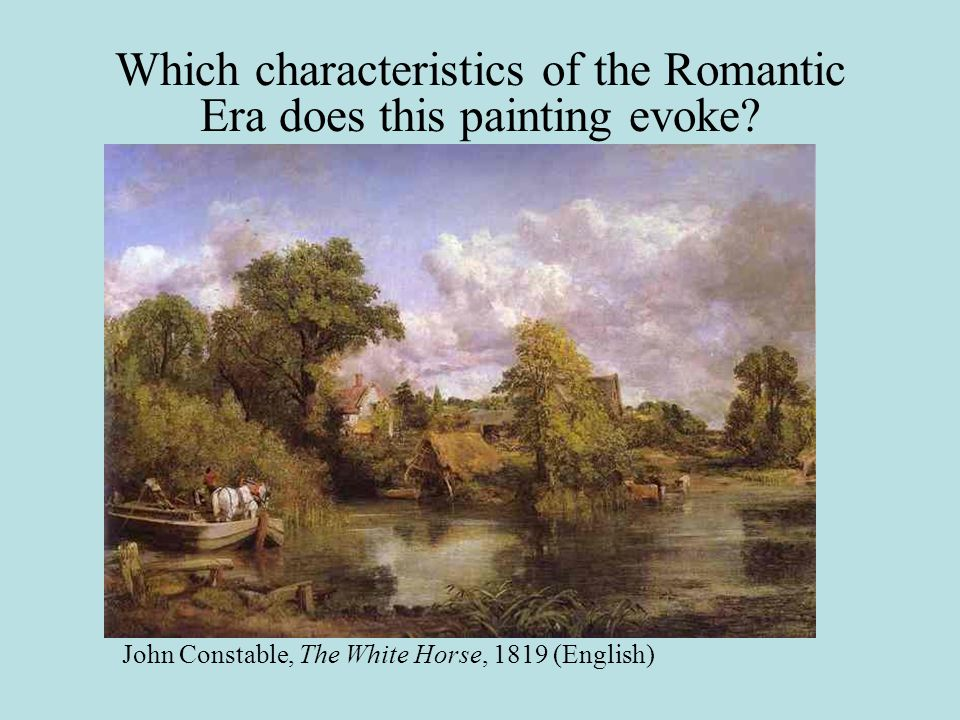 Which characteristics of the Romantic Era does this painting evoke