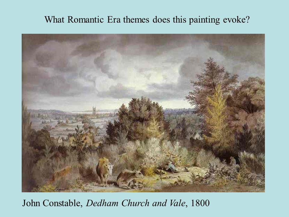 What Romantic Era themes does this painting evoke