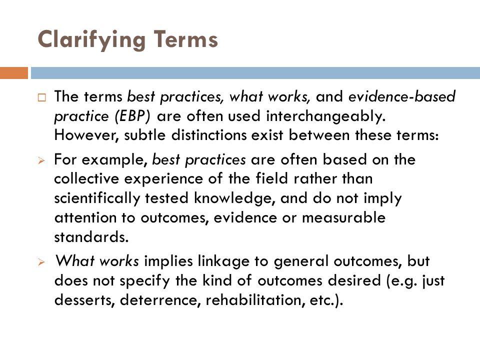 Clarifying Terms