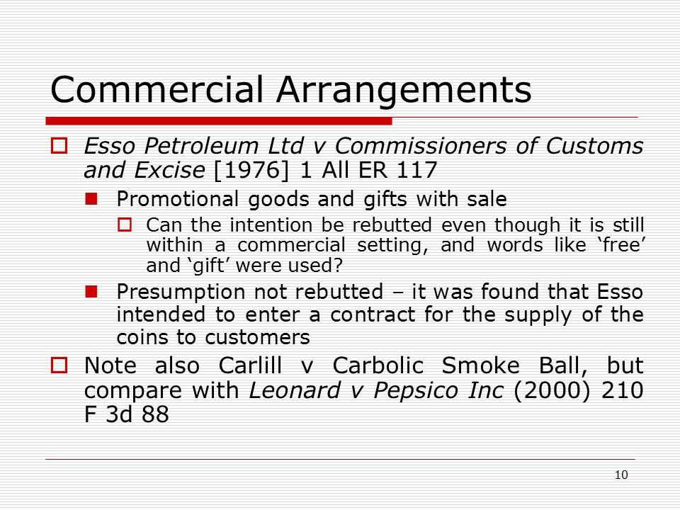 Commercial Arrangements