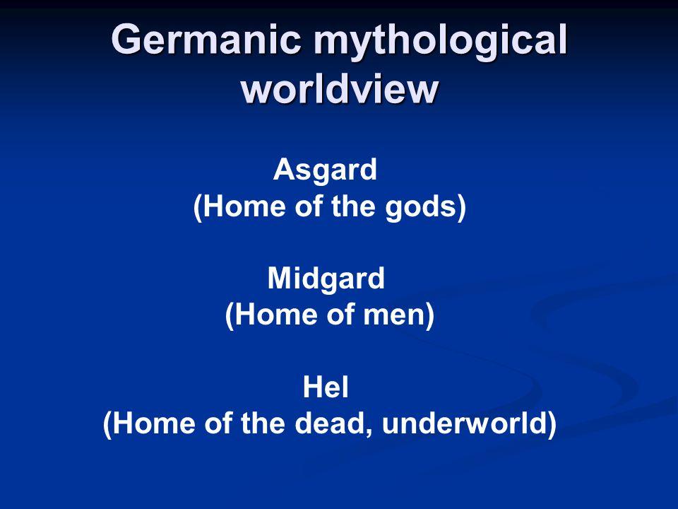 Germanic mythological worldview
