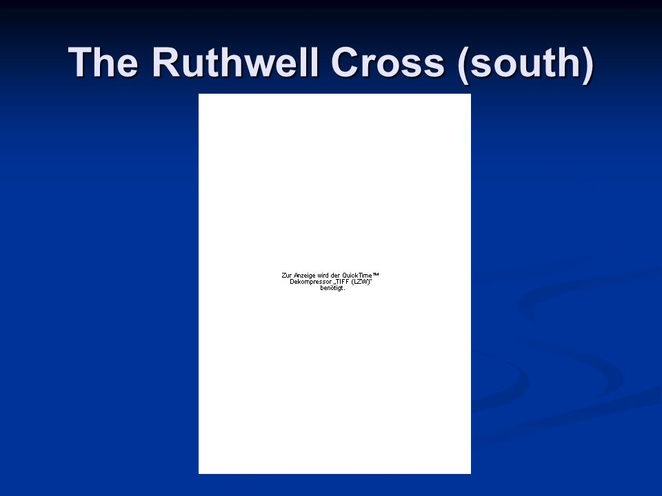 The Ruthwell Cross (south)