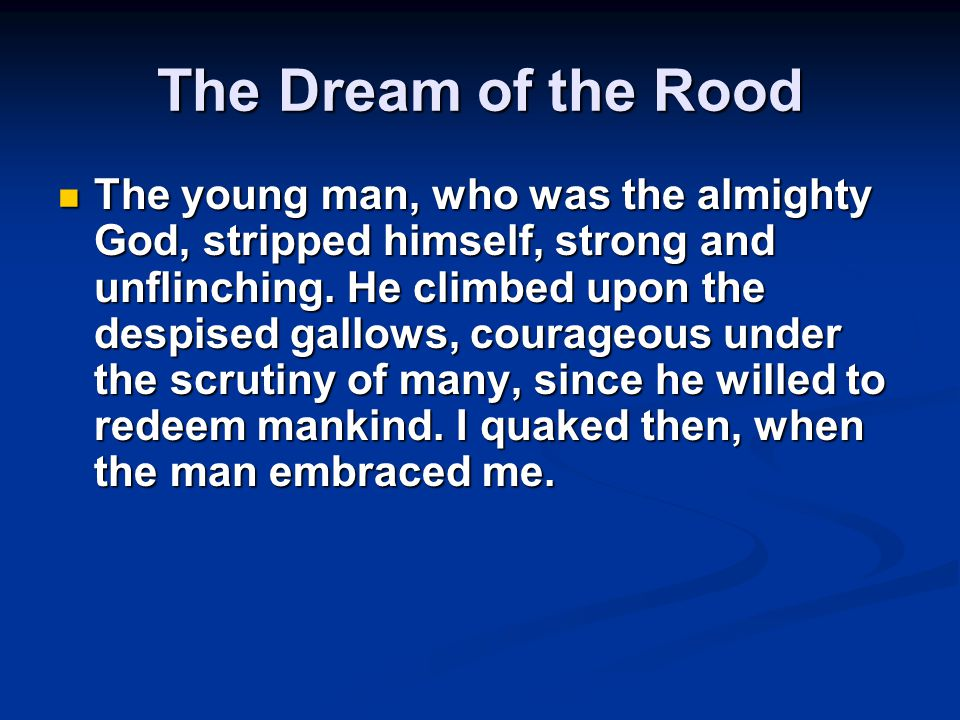 The Dream of the Rood
