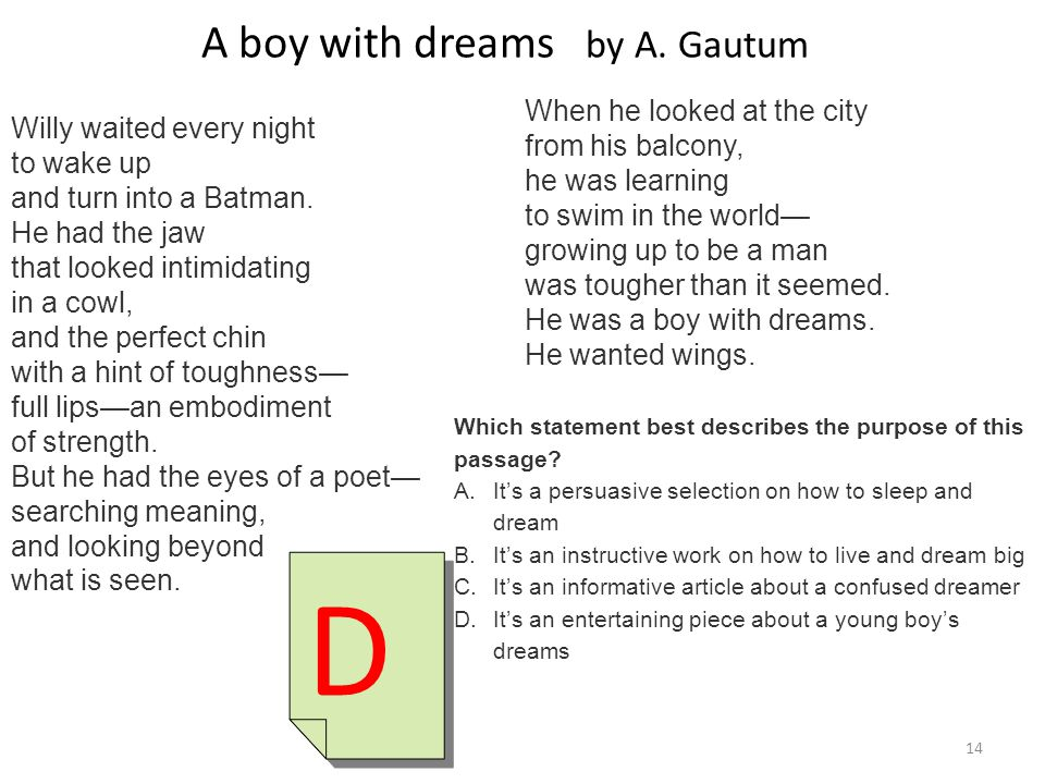 A boy with dreams by A. Gautum