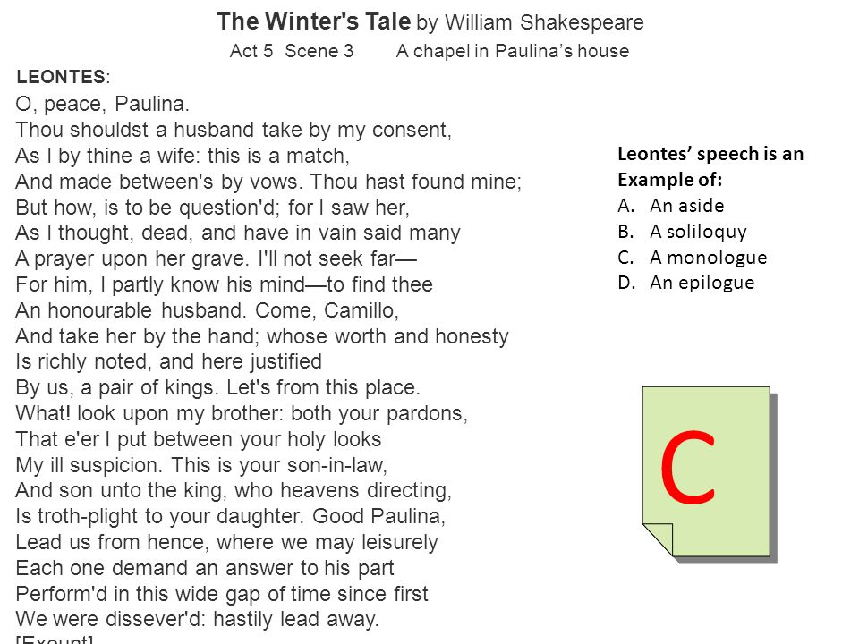 C The Winter s Tale by William Shakespeare