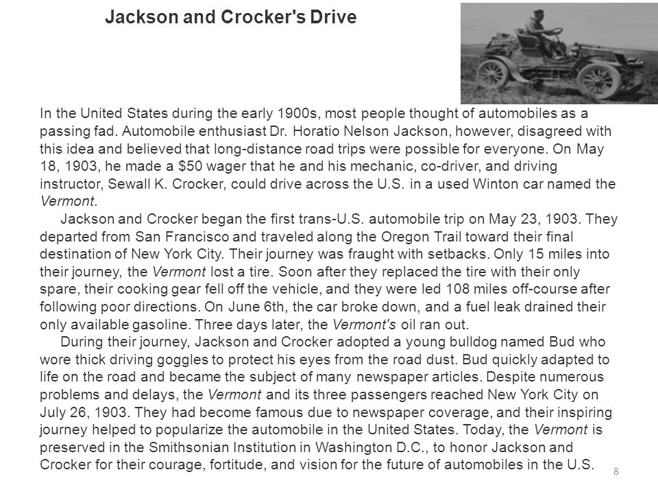 Jackson and Crocker s Drive