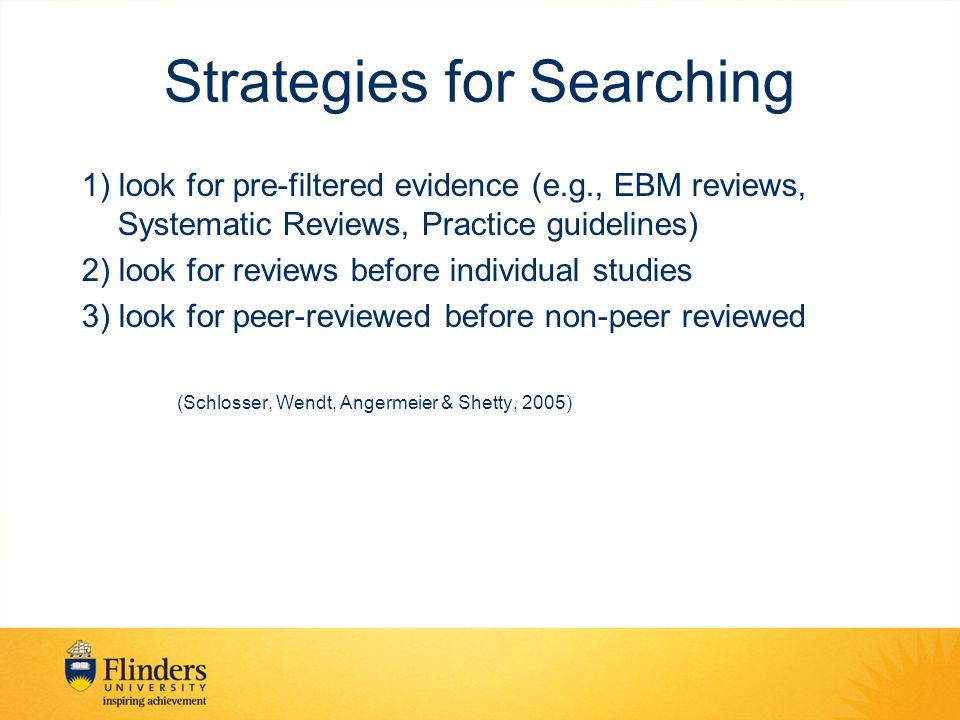 Strategies for Searching