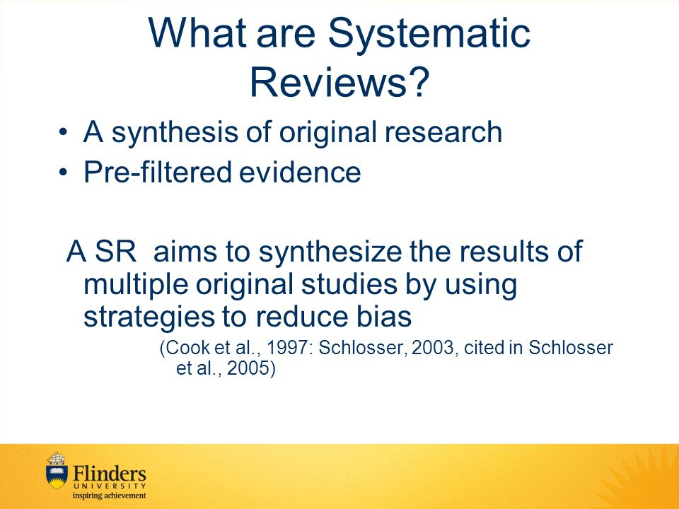 What are Systematic Reviews