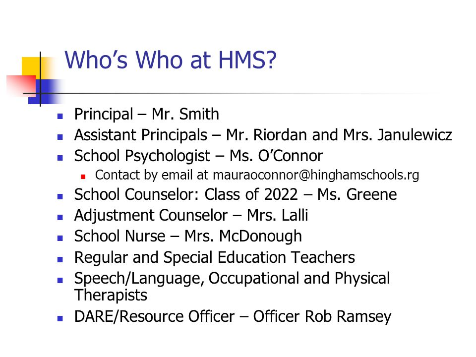 Who's Who at HMS Principal – Mr. Smith
