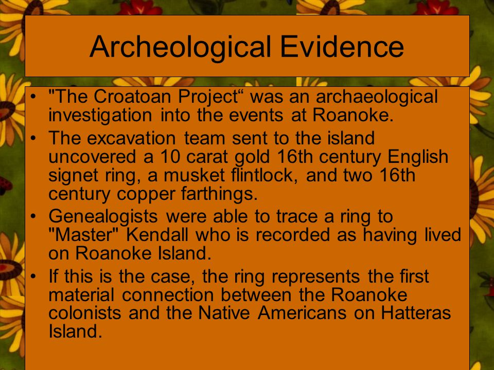 Archeological Evidence