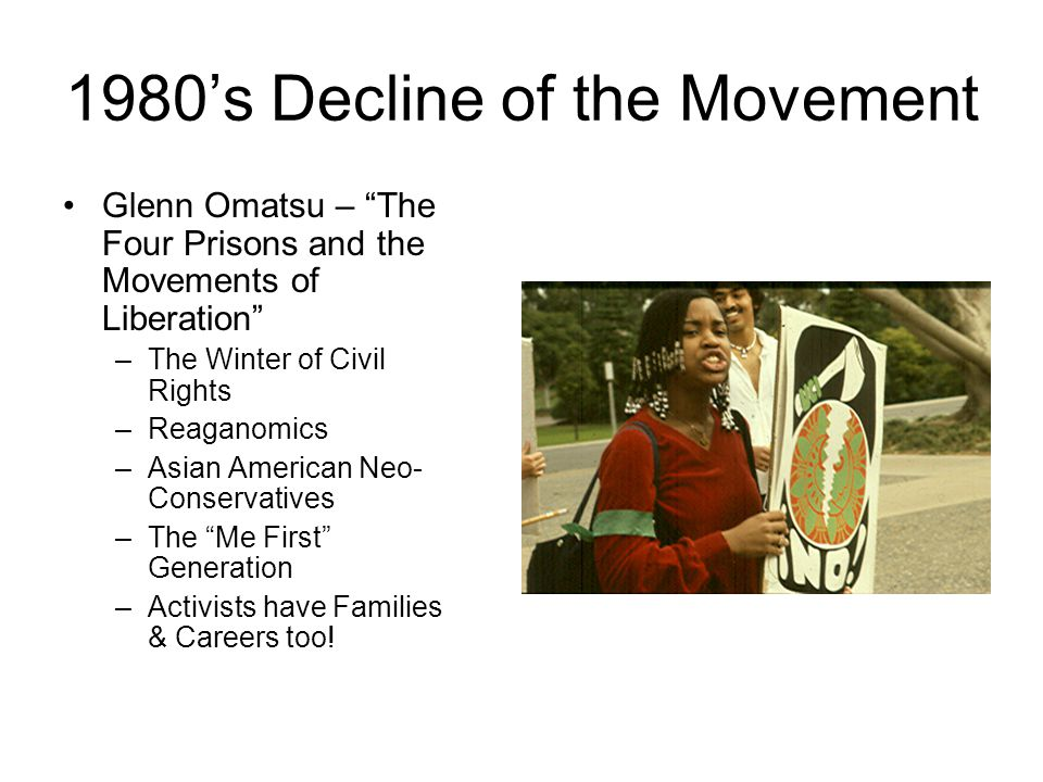 1980's Decline of the Movement