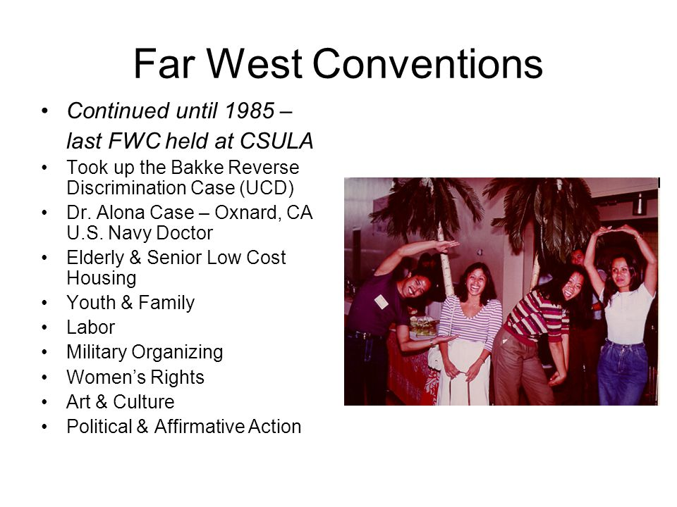 Far West Conventions Continued until 1985 – last FWC held at CSULA