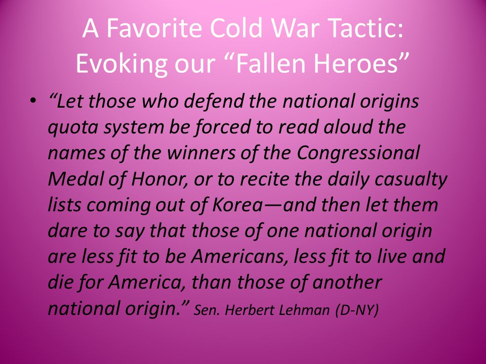 A Favorite Cold War Tactic: Evoking our Fallen Heroes