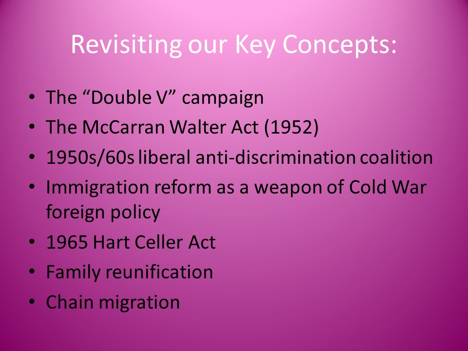 Revisiting our Key Concepts: