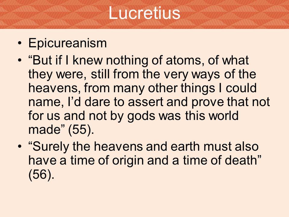 Lucretius Epicureanism