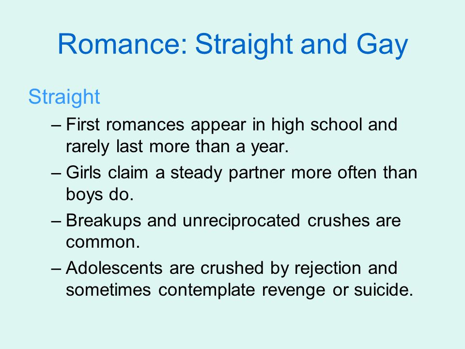 Romance: Straight and Gay