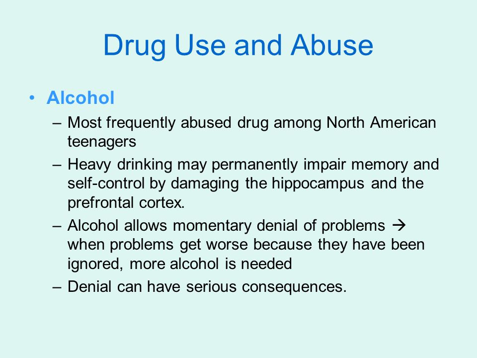 Drug Use and Abuse Alcohol