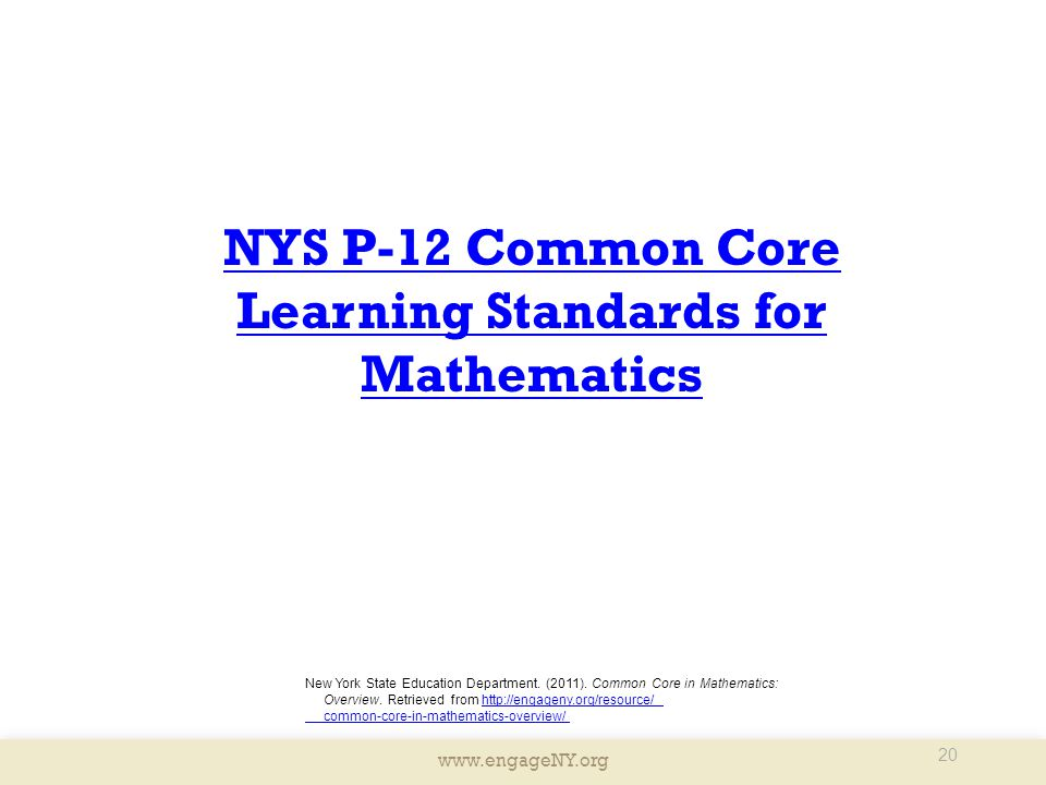 Learning Standards for Mathematics