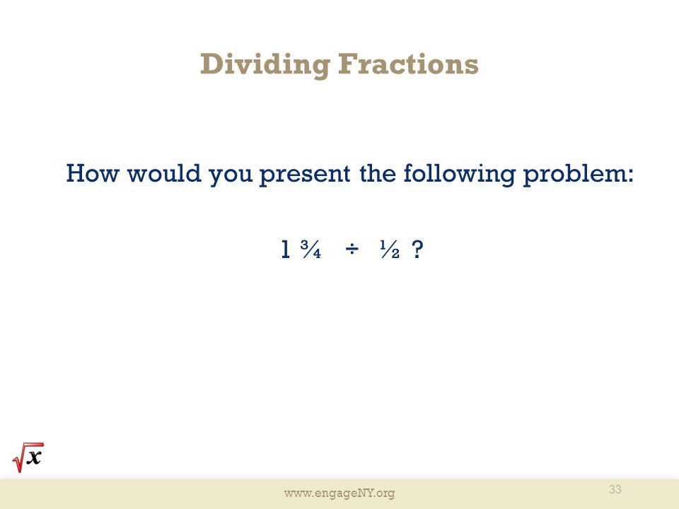 How would you present the following problem: