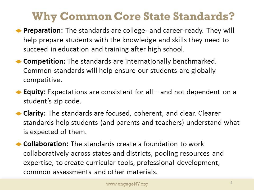Why Common Core State Standards