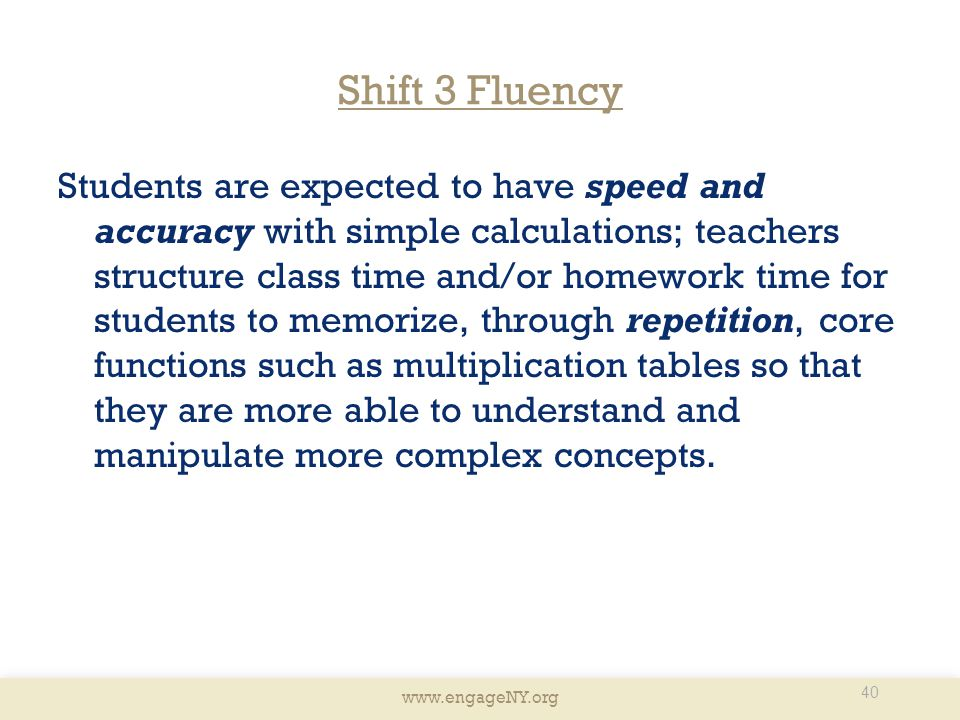 Shift 3 Fluency