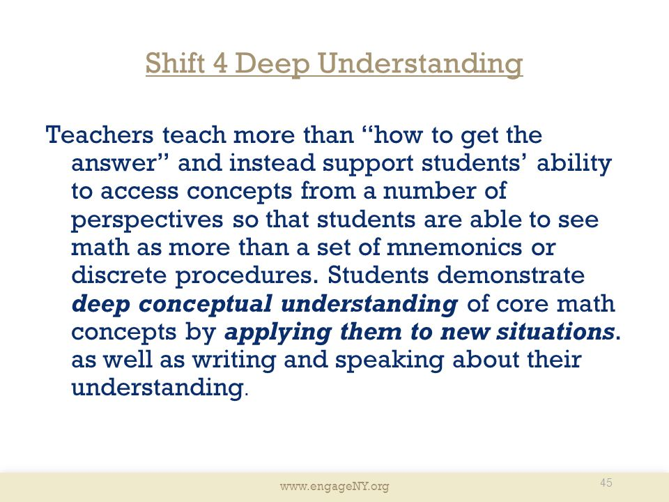 Shift 4 Deep Understanding