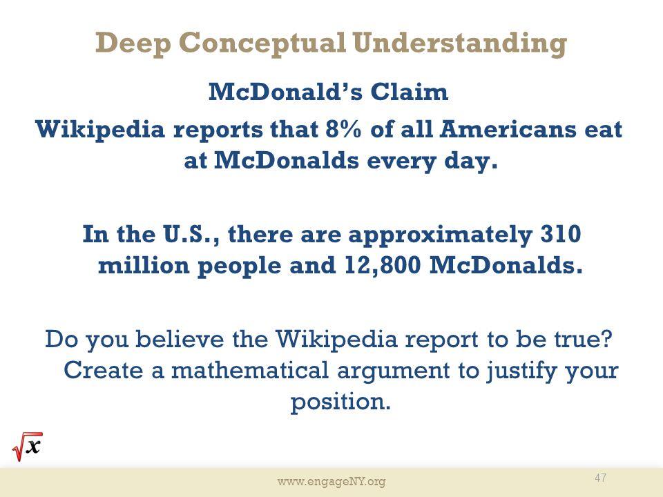 Deep Conceptual Understanding