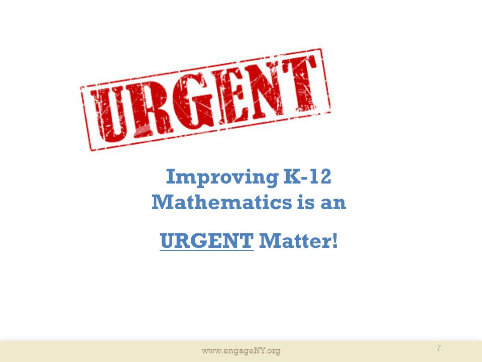 Improving K-12 Mathematics is an
