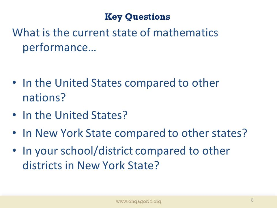 What is the current state of mathematics performance…