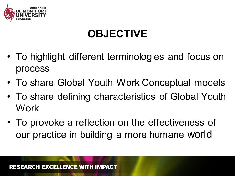 objective To highlight different terminologies and focus on process