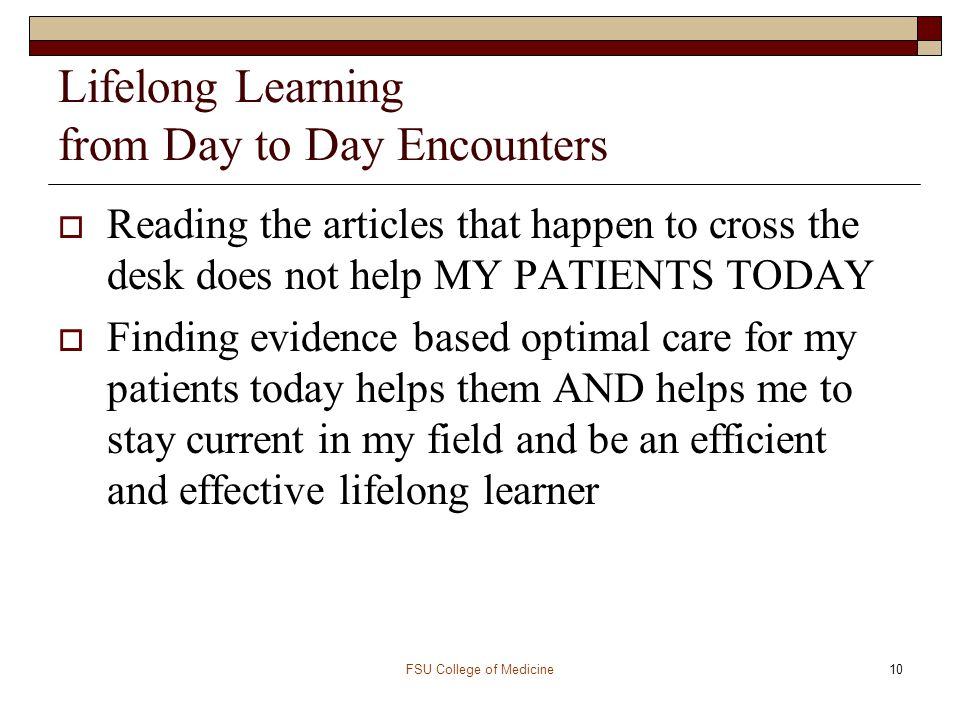 Lifelong Learning from Day to Day Encounters