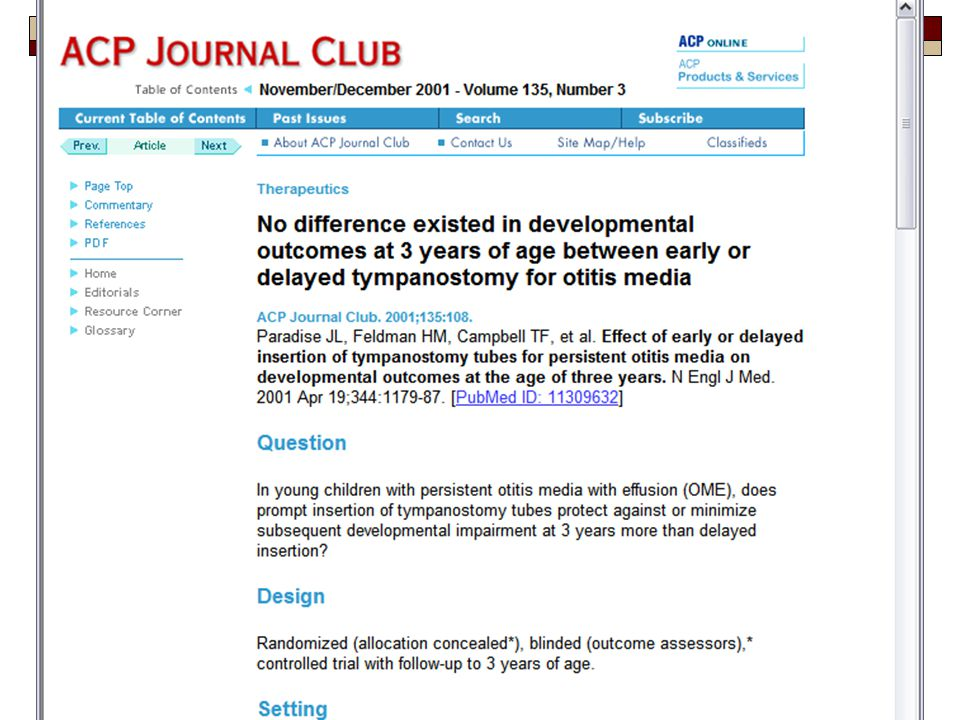 Here is what an ACP journal club review looks like