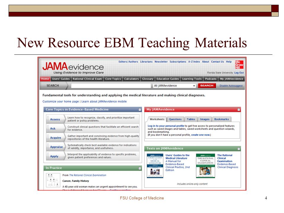 New Resource EBM Teaching Materials