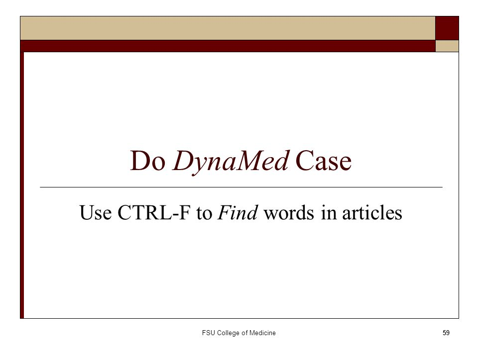 Use CTRL-F to Find words in articles