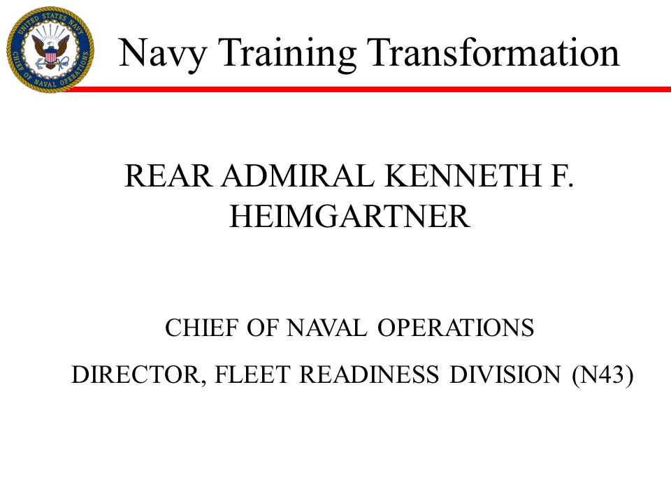 Navy Training Transformation