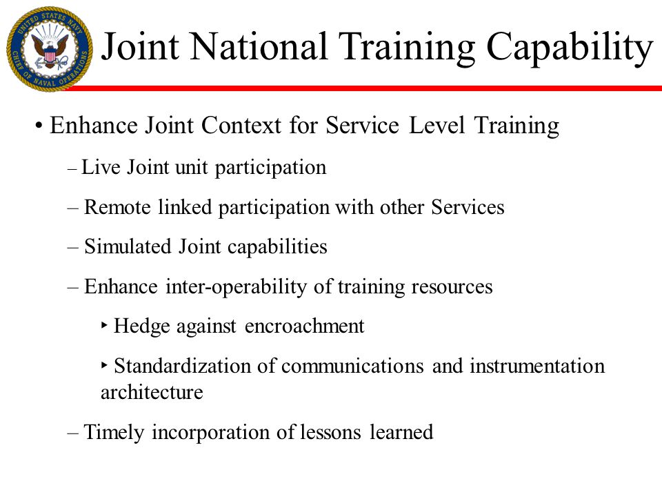 Joint National Training Capability